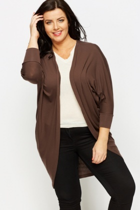 Batwing Open Front Cardigan