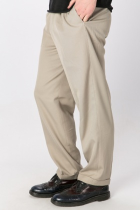 Roll Up Hem Ivory Trousers
