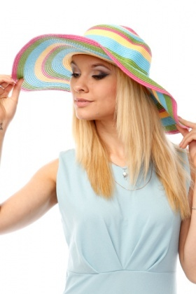 Multicoloured Stripes Floppy Hat