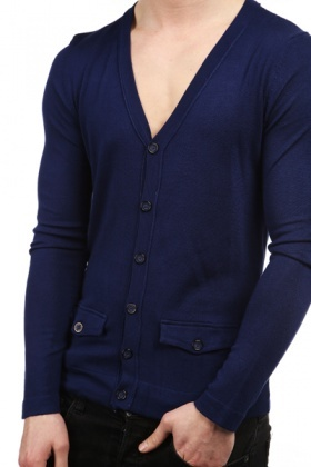Button Pocket Front Cardigan