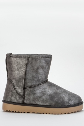 Metallic Snug Boots