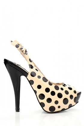 Patent Polka Dot Sandals