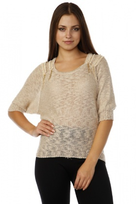 Chain Embellished Shoulders Knitted Top