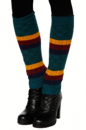 Checks & Stripes Patterned Leg Warmers