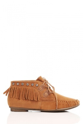 Flower Stud Fringed Shoes
