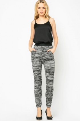 Distressed Stripe Trousers