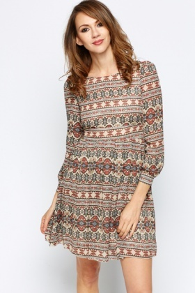 Geo Tribal Skater Dress