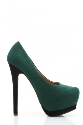 Pointed Toe Velour Platform Shoes