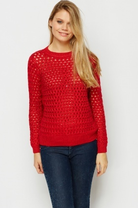 Thick Mesh Knit Jumper