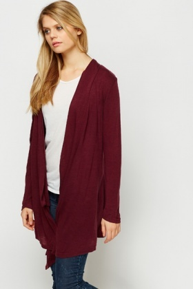 Maroon Waterfall Cardigan - Just £5