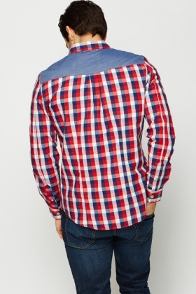 Long Sleeve Check Print Shirt