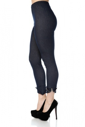 Zipped Cuffs Jeggings