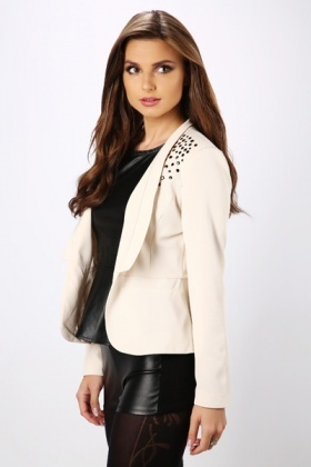 Formal Stud Embellished Blazer