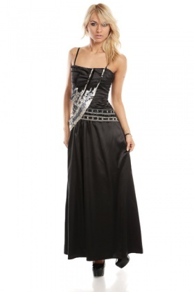 Sequin Pleated Evening Dress