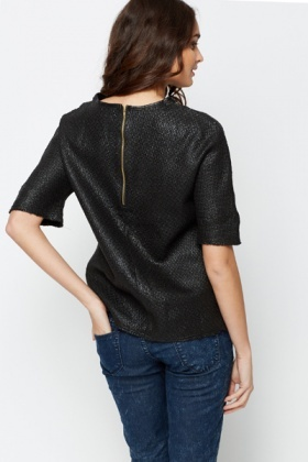 Textured Shift Blouse