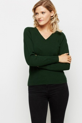 V-Neck Cotton Pullover