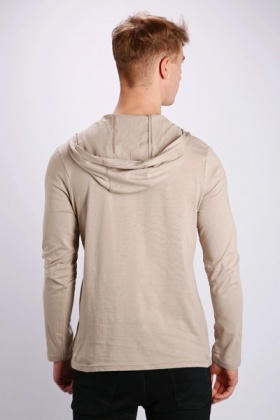 Hooded Slogan Top