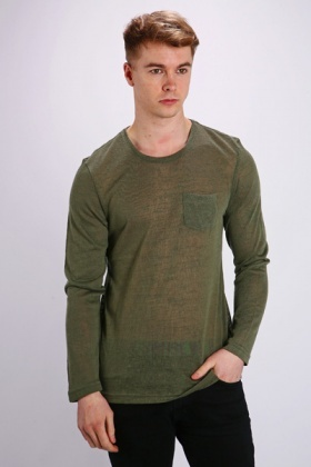 Front Pocket Basic Pullover