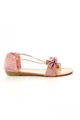 Lurex Bow & Golden PVC Sandals