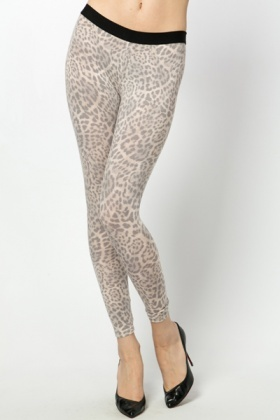 Animal Print Stretch Leggings