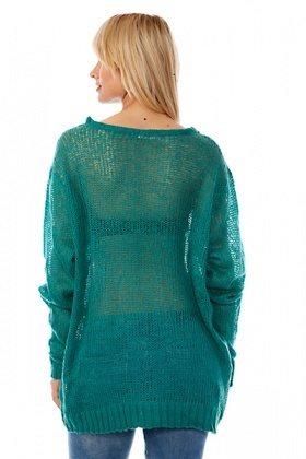 Loose Knit Sheer Pullover