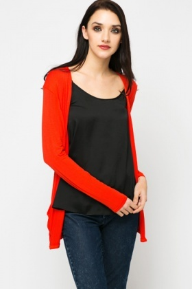 Open Front Slouch Pocket Cardigan