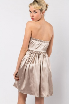 Embellished Waist Bandeau Prom Dress