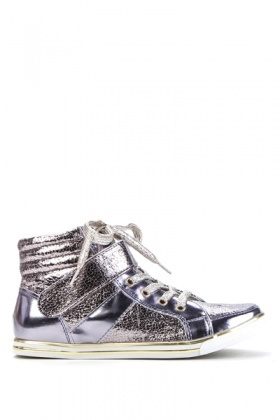 Metallic Hi-Top Trainers