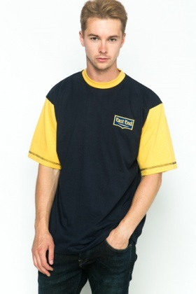 Colour Block Navy T-Shirt