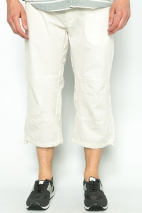 Drawstring Hem Cropped Trousers