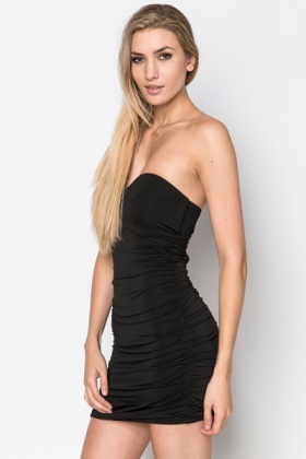 Cut Out Back Bandeau Dress