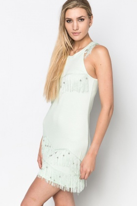 Bead Fringed Dress