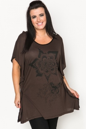 Large Floral Butterfly Tunic