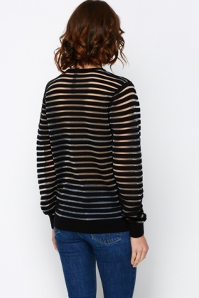 Sheer Stripe Sweater