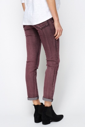 Coloured Denim Trousers