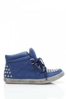 Studded Front & Back High Top Trainers