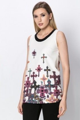 Cross Design Top
