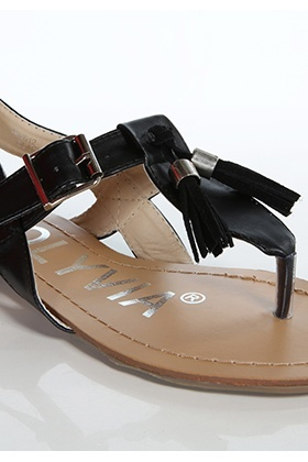 Tassels Front Toe Post Sandals