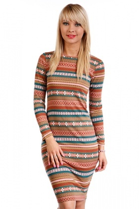 Tribal Print Woollen Dress