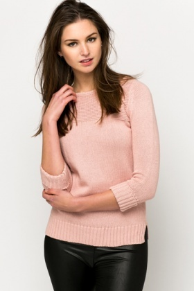 Contrasting Knitted Pullover
