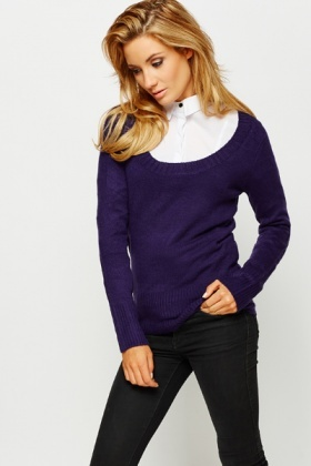Round Neck Soft knit Pullover