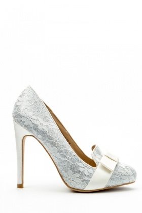 Lace Overlay Court Shoes