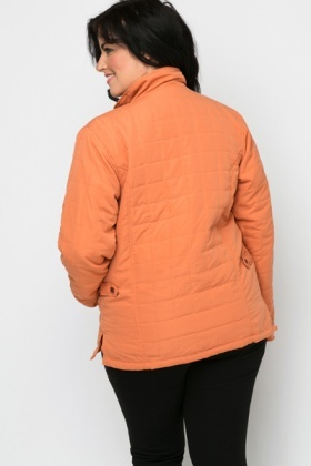 Quilted Button Front Jacket