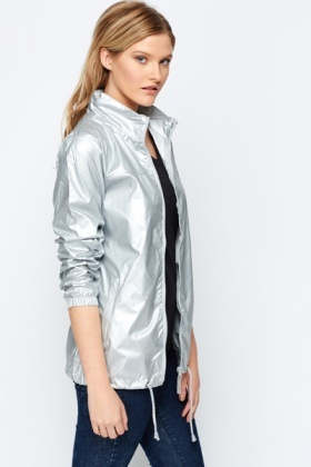newest style where to buy first look Metallic Rain Jacket