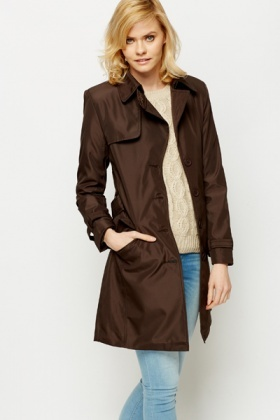 Belted Coffee Jacket