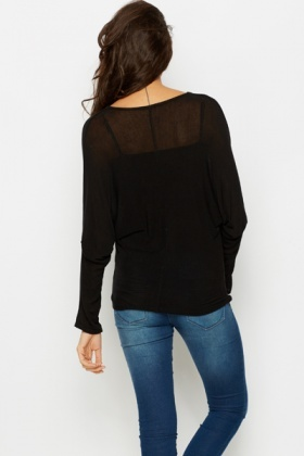 Cowl Neck Batwing Top
