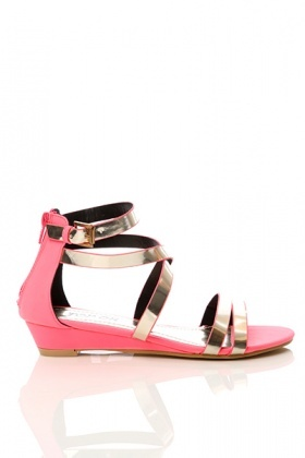 Mirror Shine Multi Strap Sandals