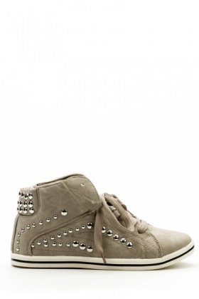 Studded Hi-Top Shoes