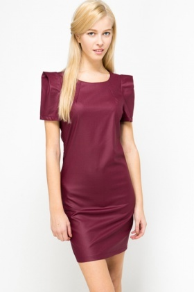 Pleat Sleeve Dress