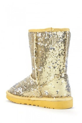 Sequined Snug Boots